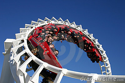 Rollercoaster Ride (Editorial Licence) Editorial Photography