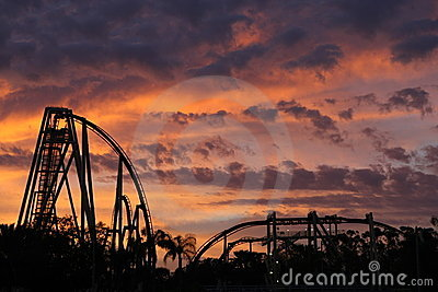 Rollercoaster Sunset