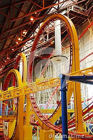 Rollercoaster in west edmonton mall