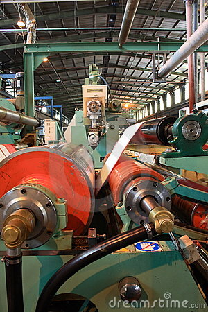 Free Rollers On Machine Stock Photo - 4224370