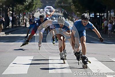 Rollerskates φυλή-23 Εκδοτική Εικόνες