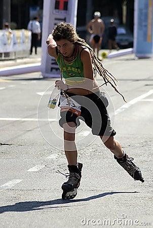 Rollerskates Race-3 Editorial Stock Photo