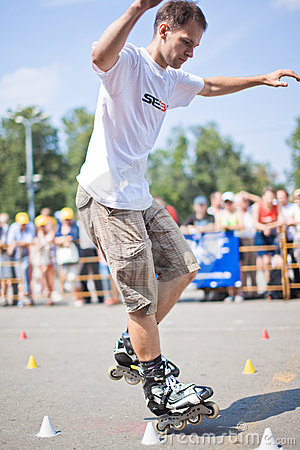 Rollerskating competition Editorial Stock Photo