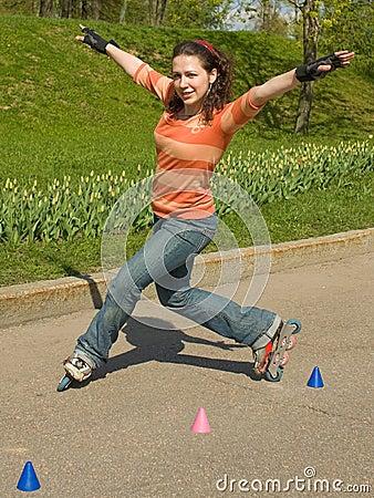 Free Rollerskating Girl Stock Photos - 5787193