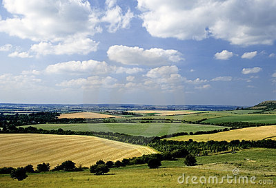 Rolling english countryside