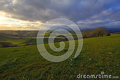 Rolling hills in Dorset
