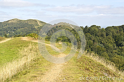 Rolling landscape of malvern hills