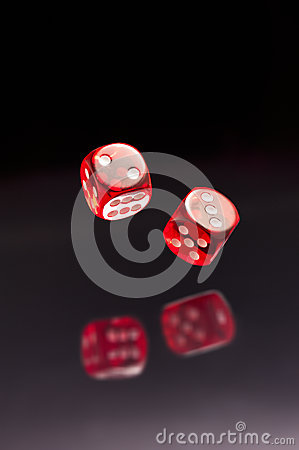 Free Rolling Red Dice Stock Image - 26079521