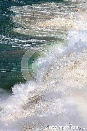 Rolling waves in sunlight, Atlantic Ocean