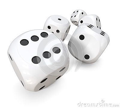 Free Rolling White Dice Royalty Free Stock Photo - 76106405