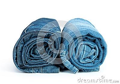 Rolls of Blue Jeans