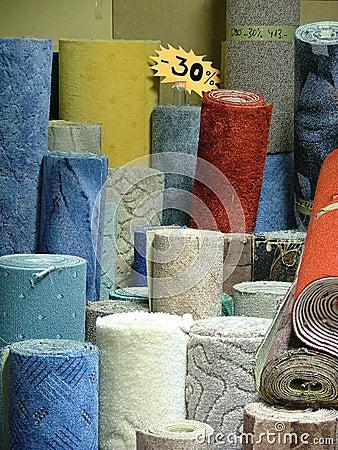Rolls of carpets