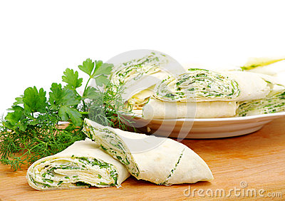Rolls with cheese and herbs