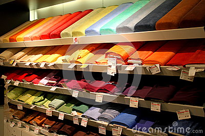 Rolls of cloth Editorial Stock Image