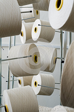 Rolls of industrial cotton
