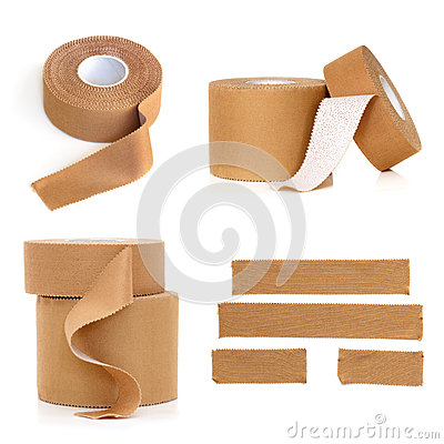 Free Rolls Of Physio Strapping Tape Isolated Royalty Free Stock Images - 90840069