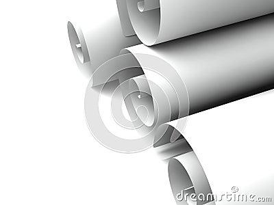 Rolls of paper
