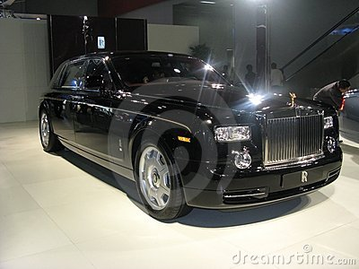 Rolls royce balck car Editorial Photography