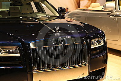 Rolls Royce Car at NY International Auto Show Editorial Stock Image