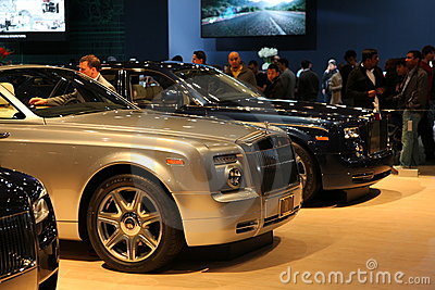 Rolls Royce Cars at NYC International Auto Show Editorial Photography