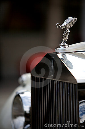 Rolls Royce emblem on car Editorial Photo