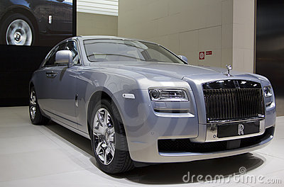 Rolls Royce Ghost in Paris 2010 Editorial Stock Photo