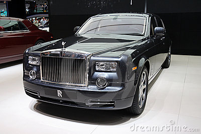 Rolls-Royce Ghost at Paris Motor Show Editorial Photography