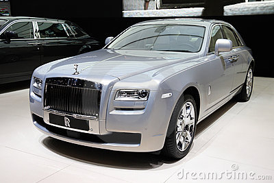 Rolls-Royce Ghost Silver at Paris Motor Show Editorial Image