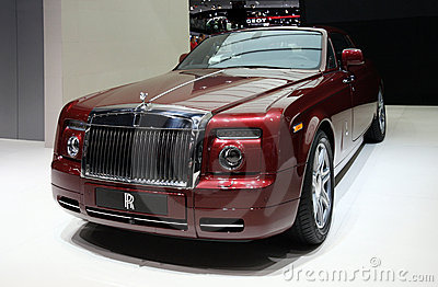 Rolls-Royce Phantom Coupe at Paris Motor Show Editorial Stock Photo