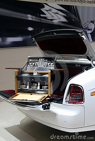 Rolls-Royce picnic hamper at Paris Motor Show Editorial Stock Photo