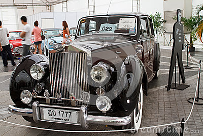 Rolls-Royce Silver Dawn 2,997 CC , Vintage cars Editorial Photo