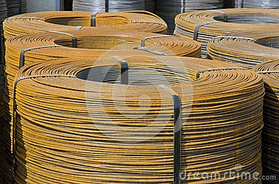Rolls of steel wire