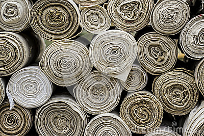 Rolls of textile material