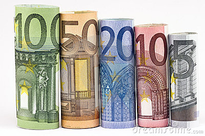 Rolls of various Euro