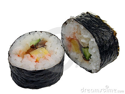 Rolos do sushi