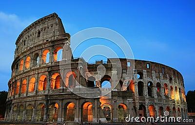 Roma Colosseum en la tarde