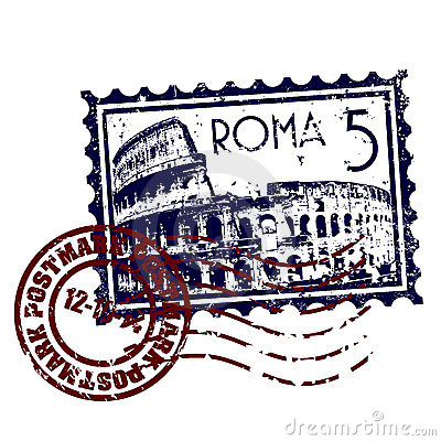 Roma stamp or postmark style grunge