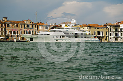 RoMa super yacht, Venice Editorial Stock Photo