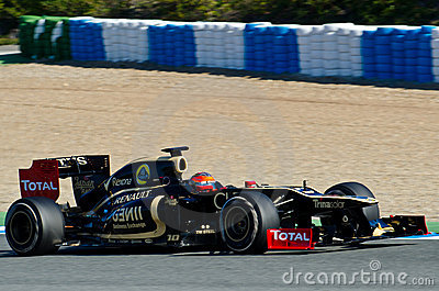 Romain Grosjean of Lotus Renault Editorial Stock Image