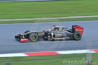 Romain Grosjean Lotus-Renault Editorial Photo