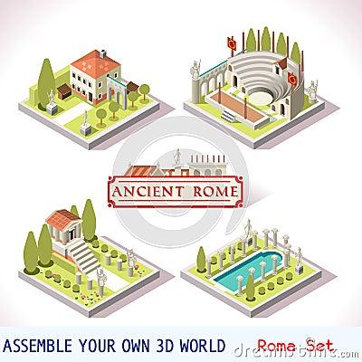 Free Roman 01 Tiles Isometric Royalty Free Stock Photos - 65959588