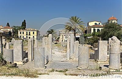 Roman agora at Athens, Greece