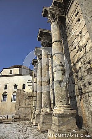 Roman Agora in Athens Greece