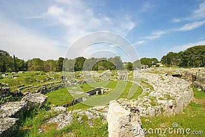 Roman amfitheatre in Syracuse