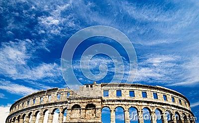 Roman amphiteater in Pula, Croatia