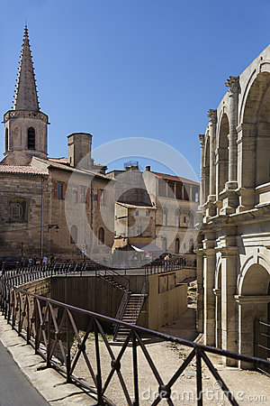 Roman Amphitheater - Arles - South of France Editorial Image