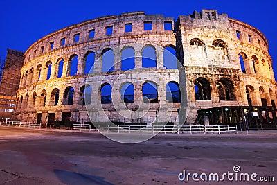 The Roman Amphitheater of pula