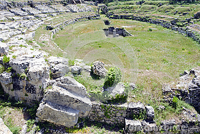 The Roman amphitheatre near Syracuse