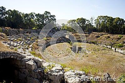 The Roman Amphitheatre, Siracusa