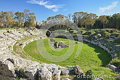 The Roman Amphitheatre in Syracuse